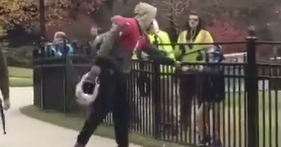 All It Took Was A Fist Bump From Cam Newton To Send This Young Fan Over The Moon