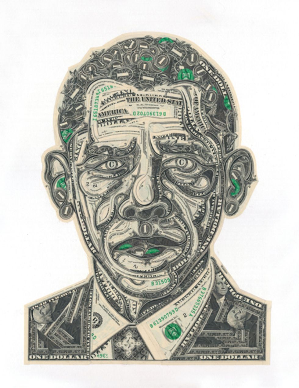 An Artist Transforms Shredded George Washingtons Into Barack Obama