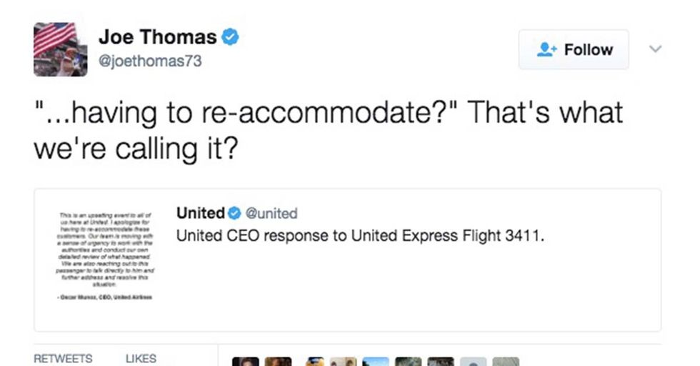 This NFL Player Fired Off Perfect Responses To United's Brutal Treatment Of A Passenger