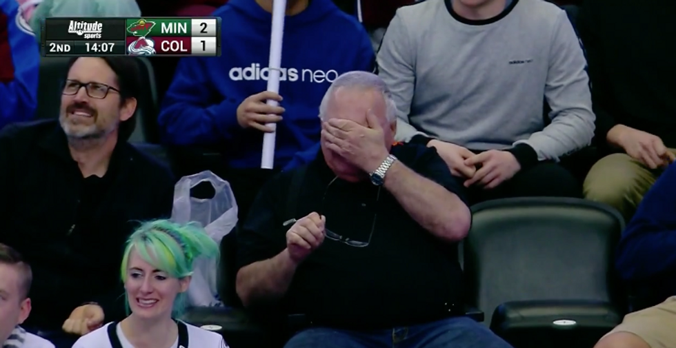 Watch This Adorable Grandpa Melt When He Sees His Grandson Score His First NHL Goal