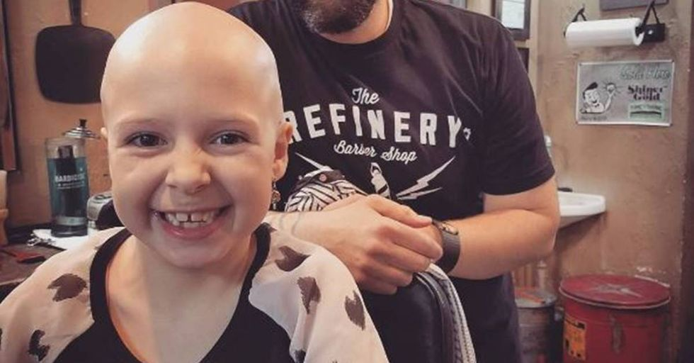 Seven-Year-Old With Alopecia's Wonderful Crazy-Hair-Day Do