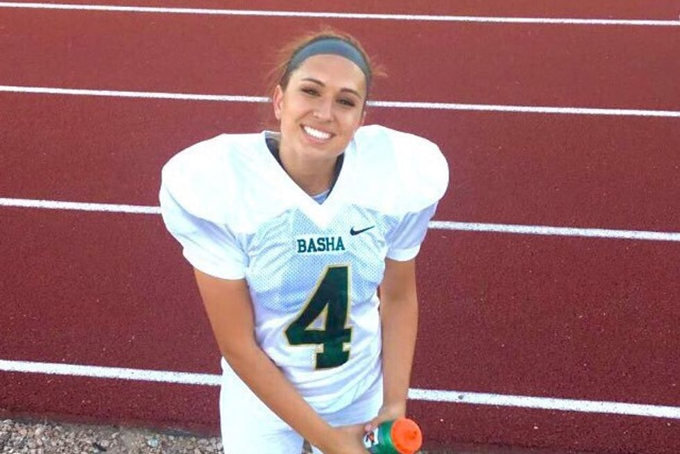 No Woman Had Ever Earned A College Football Scholarship Until Now