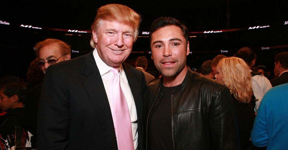 Oscar De La Hoya Fires A Dig At Donald Trump In New Ad