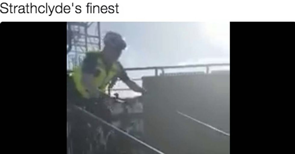 A Misguided Cop Giving A Cycling Safety Demonstration Ends Up In A Very Dangerous Situation