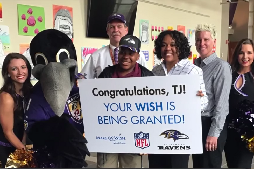Baltimore Ravens Surprise Make-A-Wish Kid With Opportunity Of A Lifetime