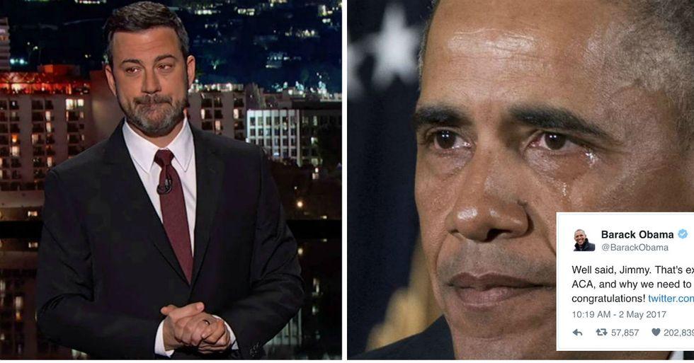 Obama Responds To Jimmy Kimmel's Emotional Health Care Speech