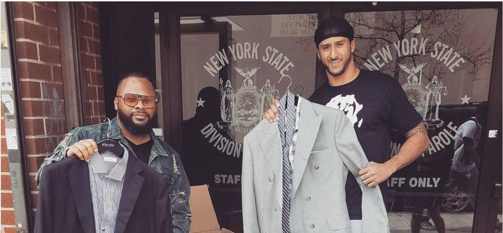 Colin Kaepernick Hands Out Suits At A Parole Office For Ex-Cons Looking For Jobs