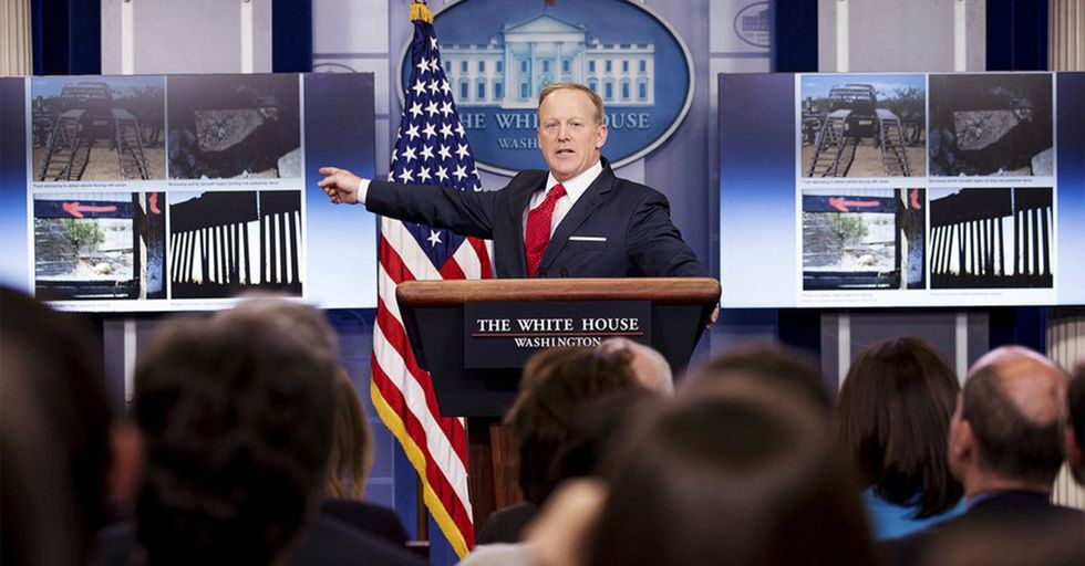 Sean Spicer's Most Recent Press Briefing Meltdown Was Over The Definition Of A Fence Vs. A Wall