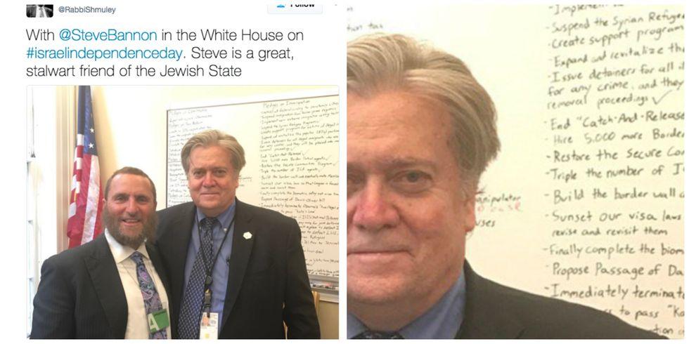 Steve Bannon's Entire White House To-Do List Accidentally Leaks On Twitter
