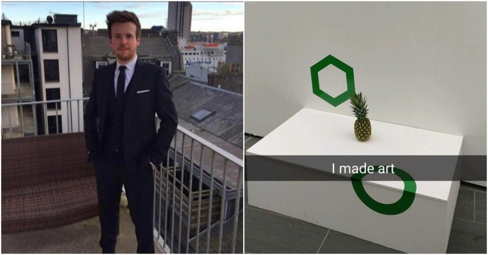 Students Just Tricked People Into Thinking A Pineapple Is Modern Art