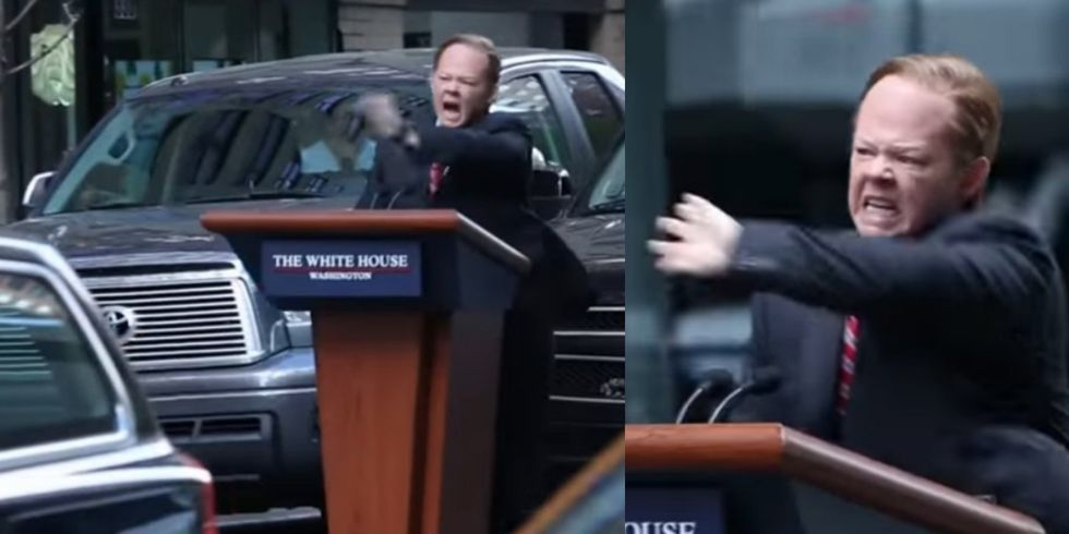 Melissa McCarthy Spotted Speeding Through NYC On Spicey's Podium