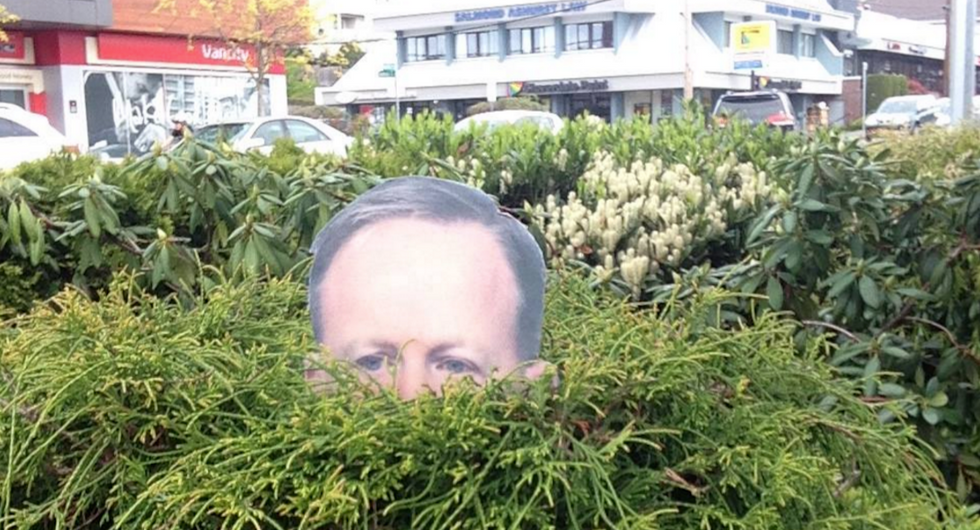 Why Sean Spicer's Face Is Showing Up In Bushes Around The World