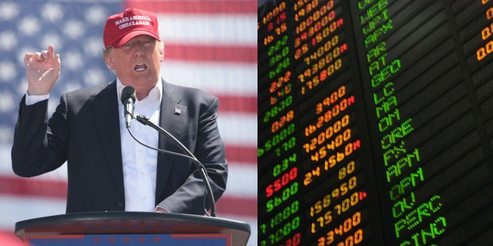 Stock Market Takes A Dip Among Trump Controversies