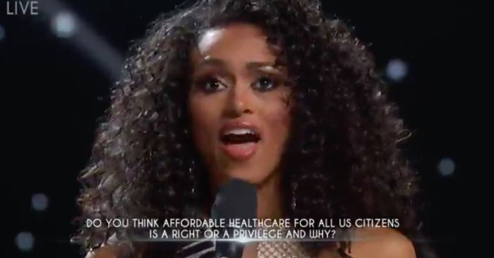 Newly Crowned Miss USA Is Already In Hot Water For Controversial Comments Made During The Pageant