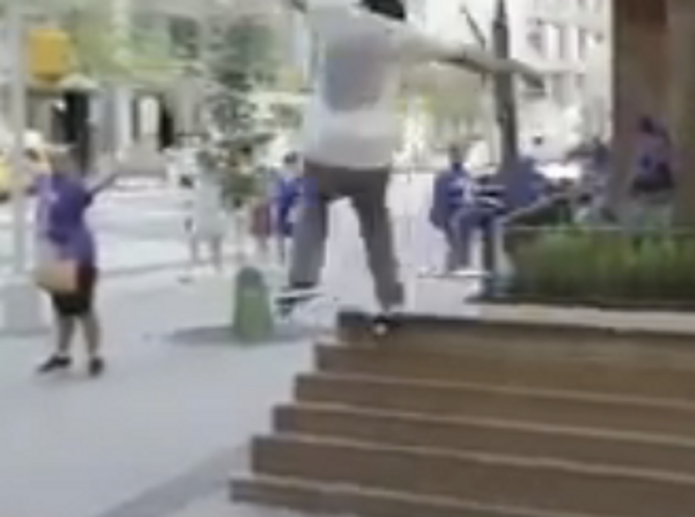 Amazing Women Refuse To Leave Until Random Skateboarder Gets It Right