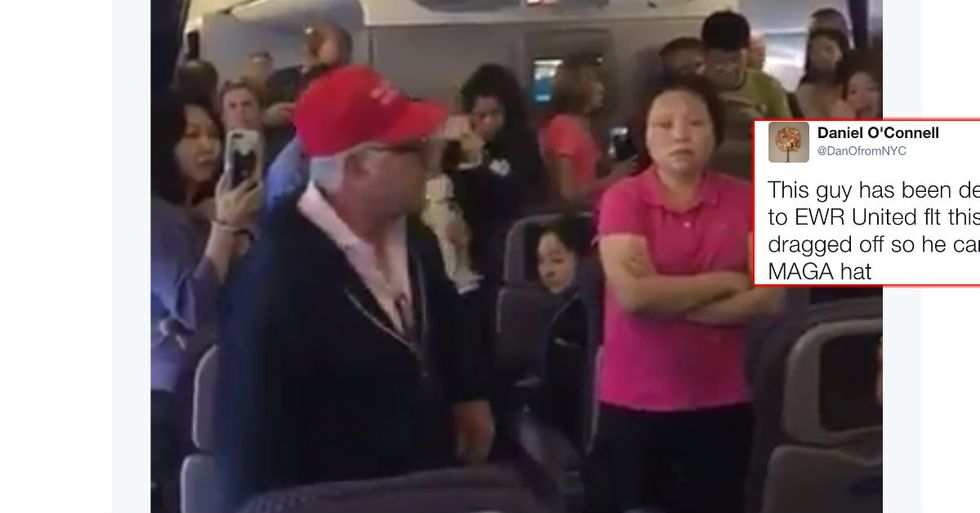 Unruly Man In Trump Hat Gets Kicked Off Plane As Passengers Cheer
