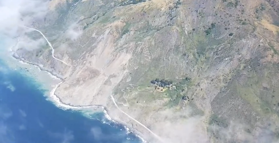 Massive Landslide On California Highway Is The Creepiest Thing You'll See All Day