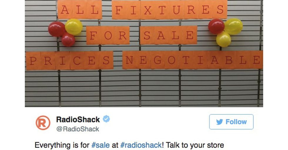 Radio Shack Is Firing Off Surreal Tweets Showing Its Empty Stores On Life Support