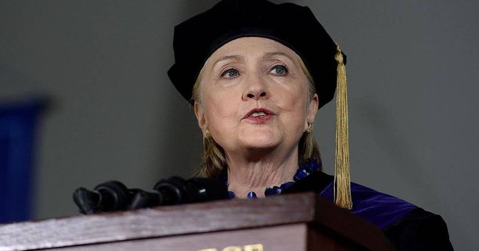Hillary Jokes About Trump Being Impeached During Commencement Speech