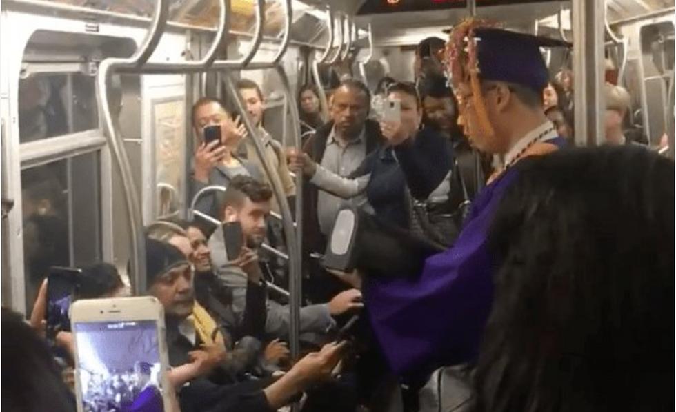 Strangers On A Delayed TrainHold A Heartwarming 'Graduation' Ceremony