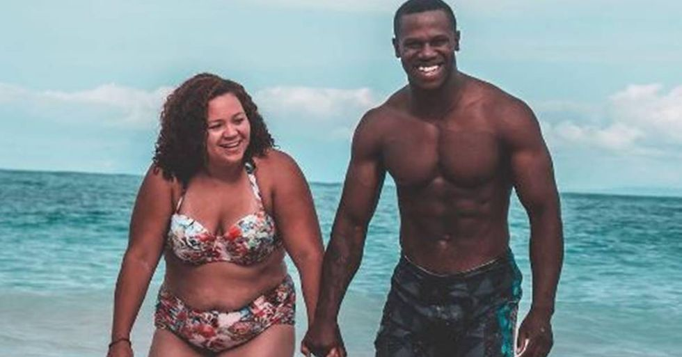 Body Positivity Advocate's Swimsuit Photo Makes A Bold Statement About Couples With Mixed Body Types