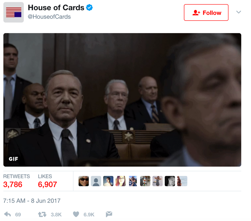 This House Of Cards Tweet Perfectly Captures The Comey Testimony