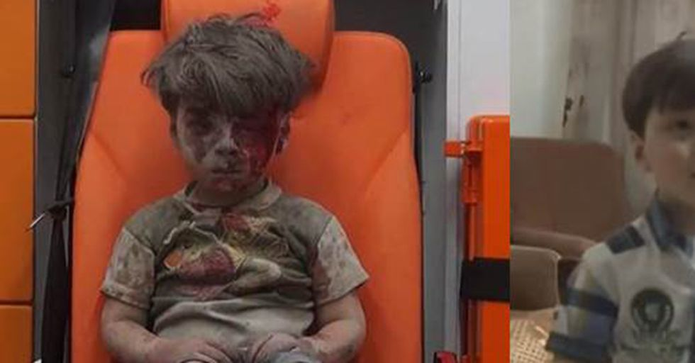 Here's What The Iconic Syrian Boy Looks Like A Year After The Bombing