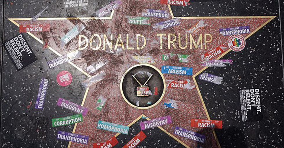 Resist Marchers In LA Redecorate Donald Trump's Hollywood Star