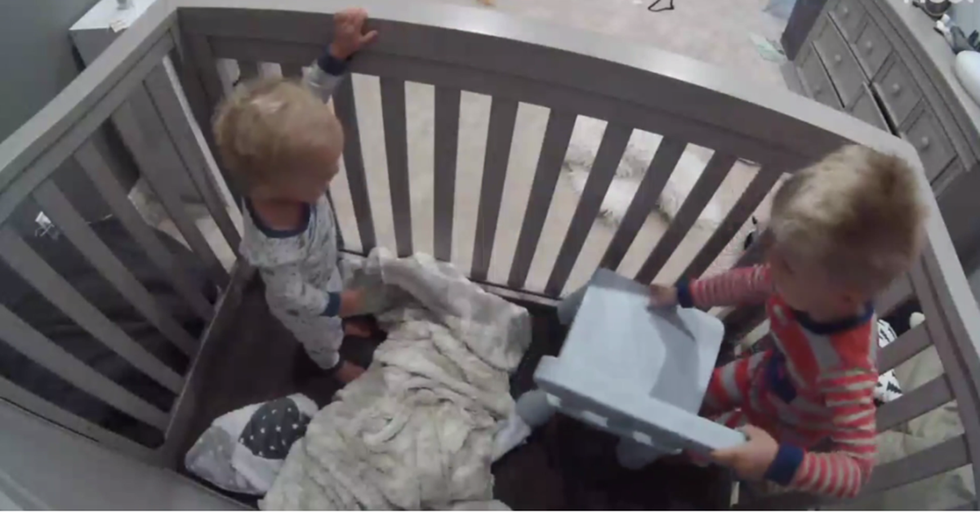 A Toddler Helps His Baby Brother Escape From A Crib In The Most Genius Way