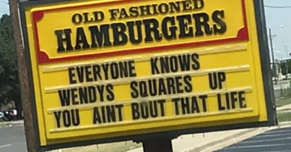 Wendy's Is In A Sign Fight With An Iced Tea Company In Texas