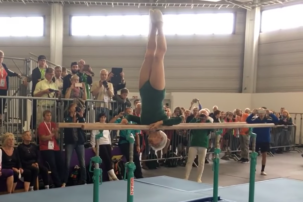 Watch This 91-Year-Old Grandma's Amazing Gymnastics Routine