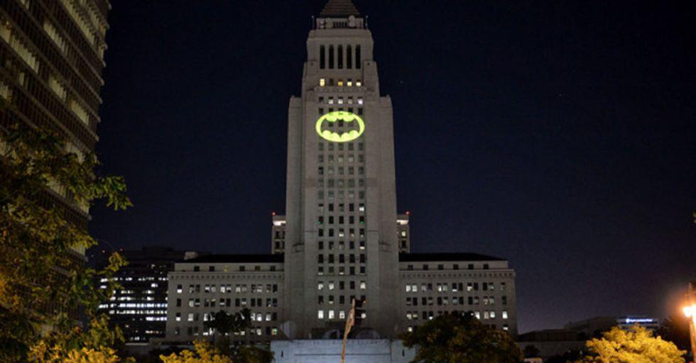 LA's City Hall Lit The Bat Signal To Honor Adam West, TV's Batman