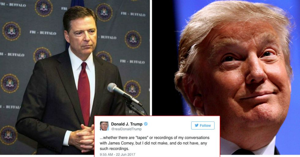 Trump Admits He Doesn't Have Alleged Comey Tapes