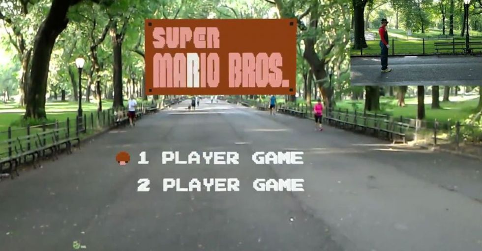 This Real-Life Super Mario Bros. Using Augmented Reality Glasses Is Everything You'd Hope For