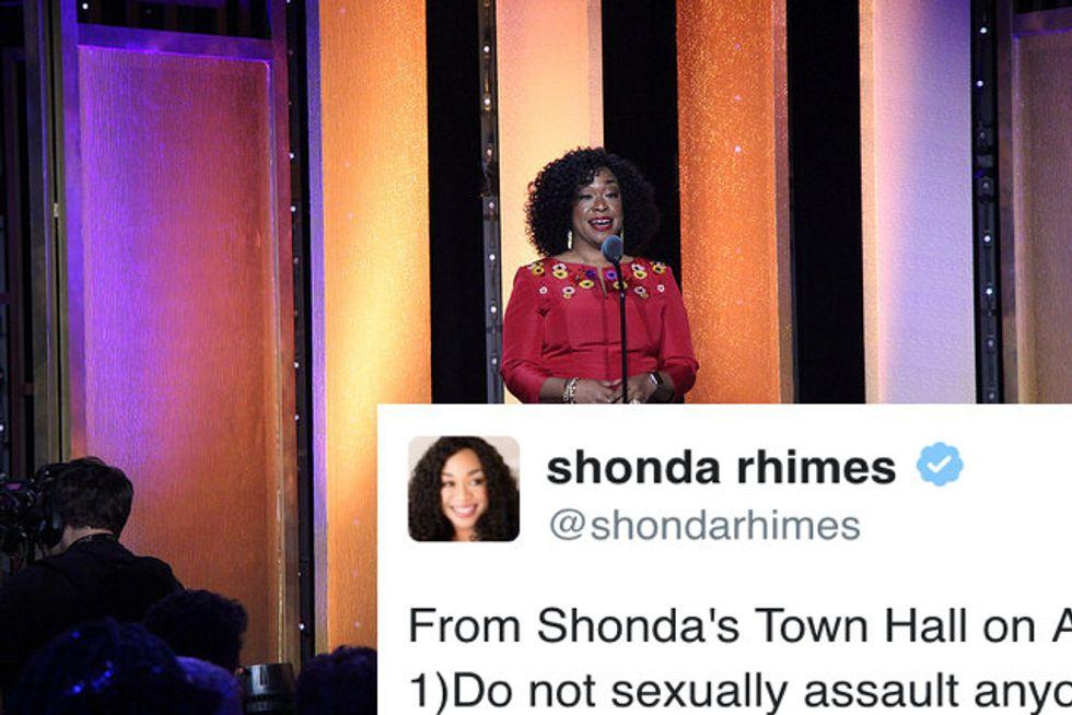 Shonda Rhimes Just Shut Down Bill Cosby's Sexual Assault Town Hall