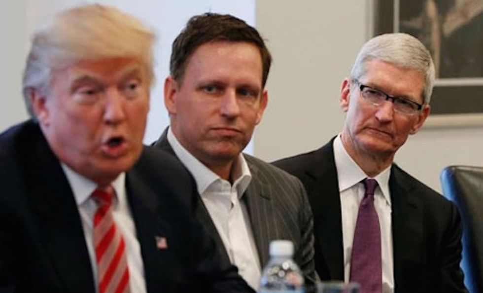 Watch These Sad Tech Leaders Suffer In A Meeting With Trump