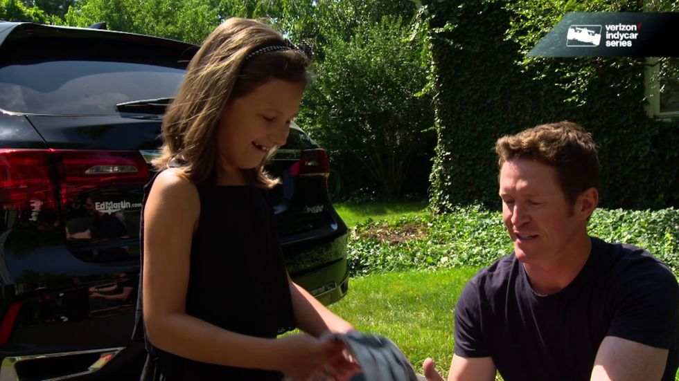 Race Car Driver Visits The 9-Year-Old Girl Who Sent Him A Worried Letter After His Violent Crash