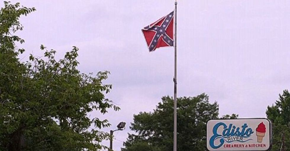 An Ice Cream Shop Owner Fights To Remove The Confederate Flag Hanging Over His Business