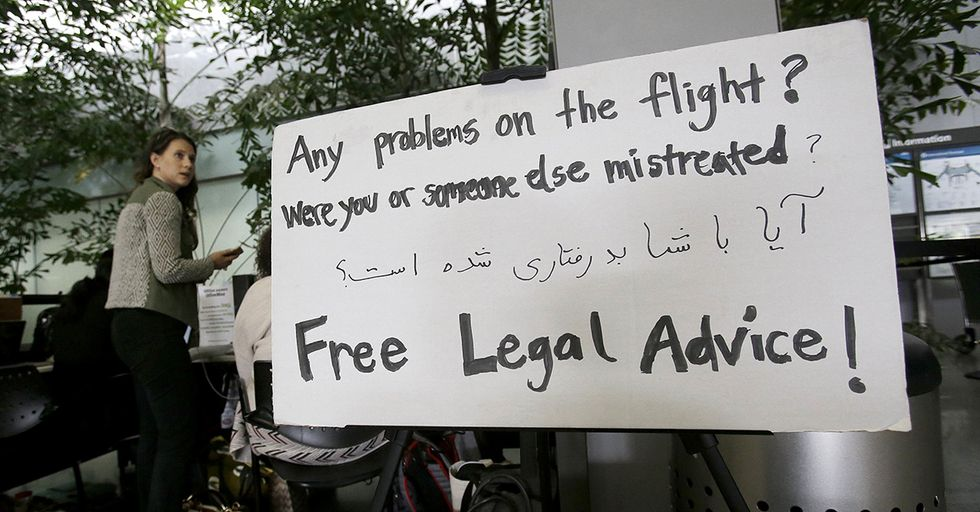 Legal Advice Is Once Again Available For Free To Those Targeted By Trump's Travel Ban