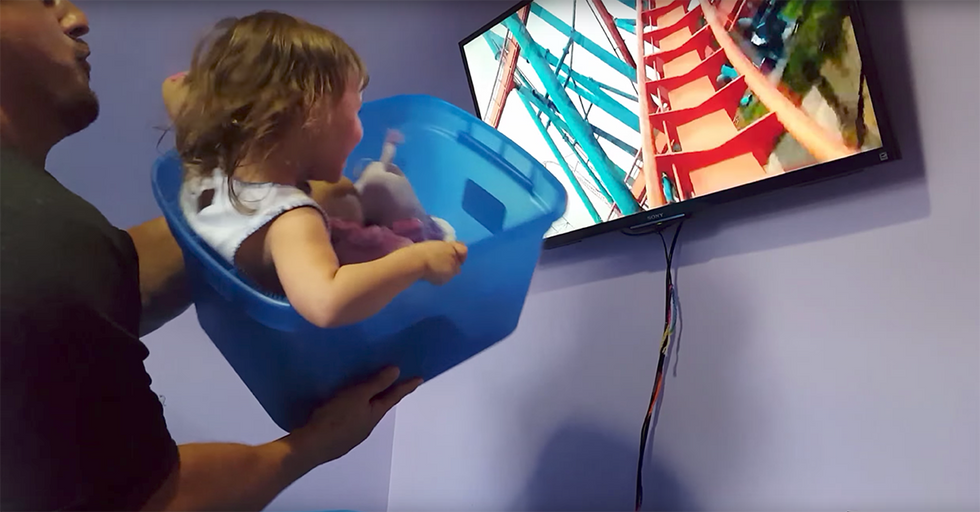 Creative Dad Couldn't Afford A Trip To Disney World, So He Recreated A Ride At Home
