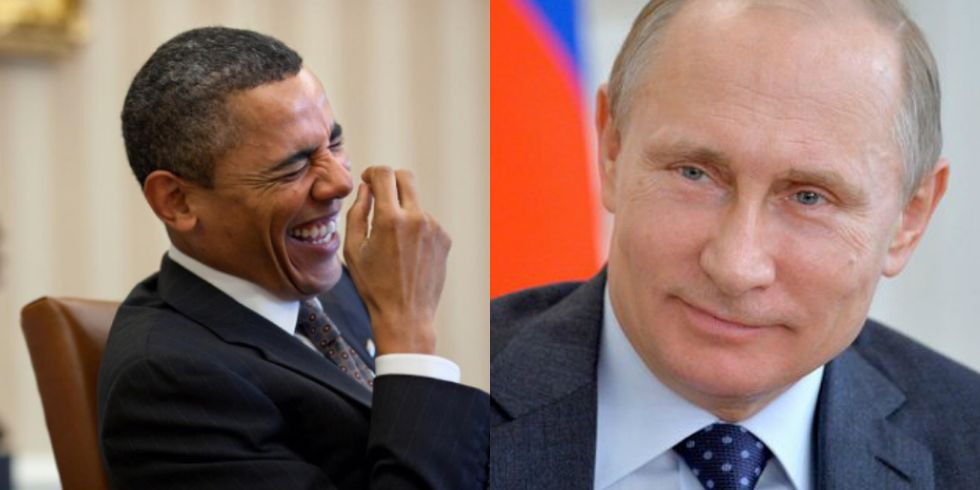 When It Comes To Putin, Obama's Photographer Has The Guts To Do What Trump Won't