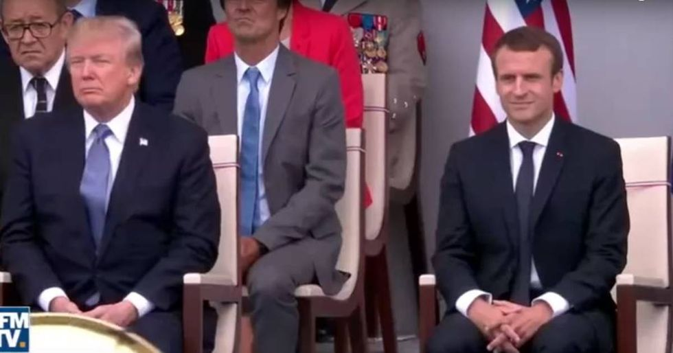 President Trump Couldn't Be More Bored Listening To Daft Punk On Bastille Day