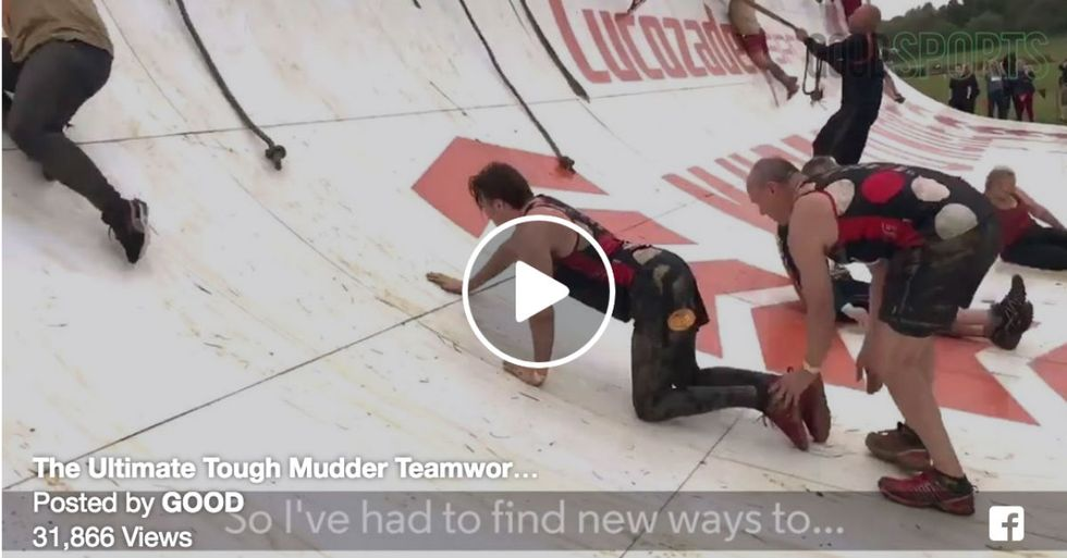 Son In Wheelchair Completes Tough Mudder Challenge With Dad's Help