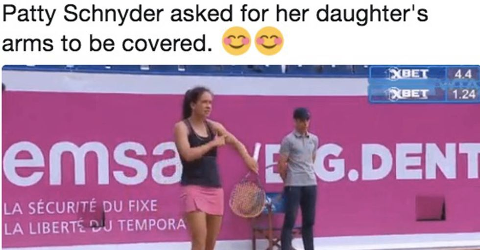 Pro Tennis Player Paused Match To Make Sure Her Daughter Wasn't Getting Sunburned