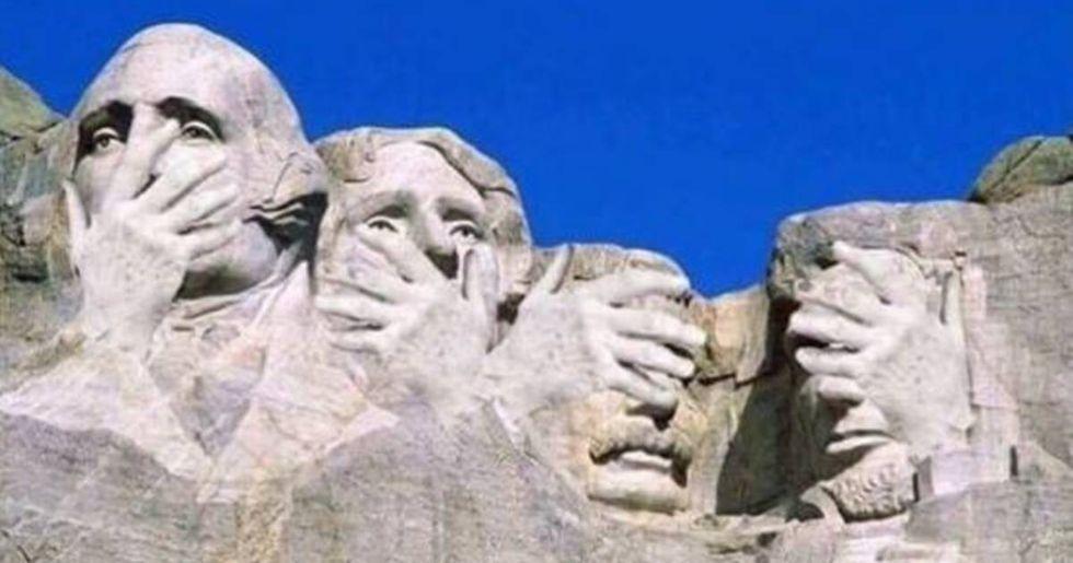 Twitter Responds To President Trump's Mount Rushmore Joke