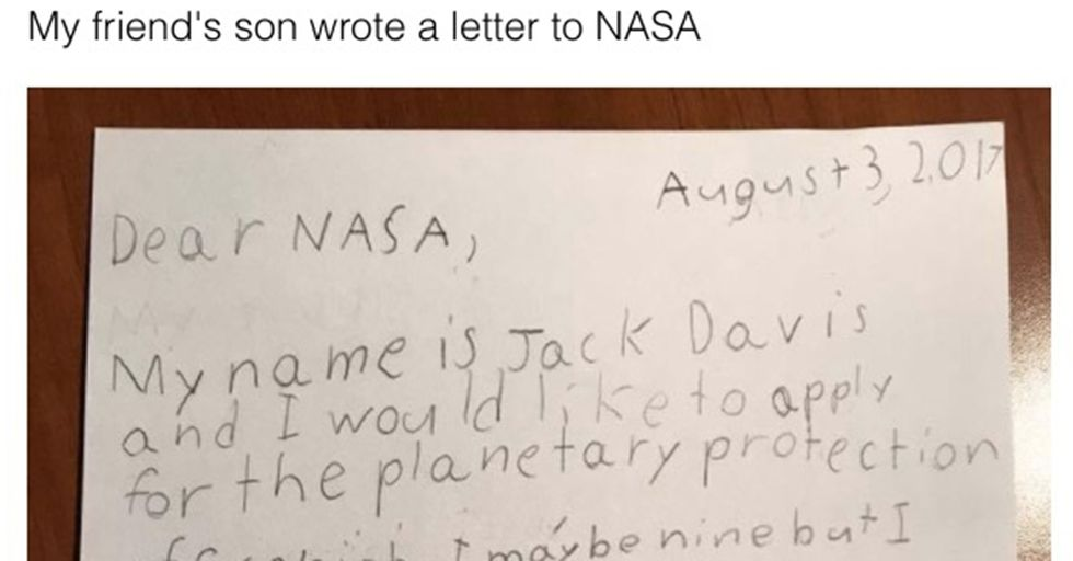 A Fourth-Grader Made A Convincing Handwritten Pitch Explaining Why NASA Should Hire Him