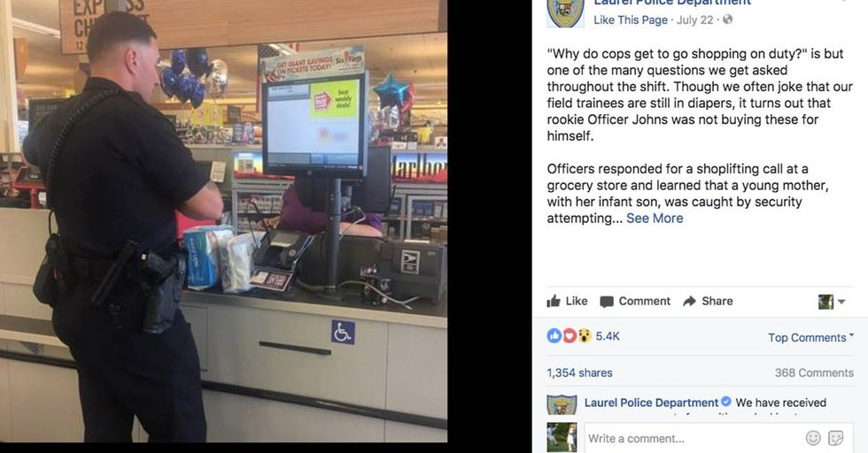 A Police Officer Responded To A Mom Stealing Diapers With An Act Of Total Kindness