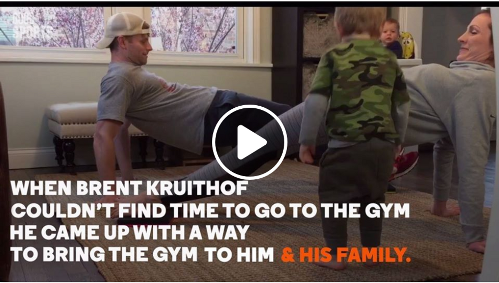 Dad Creates New Way To Work Out With His Kids