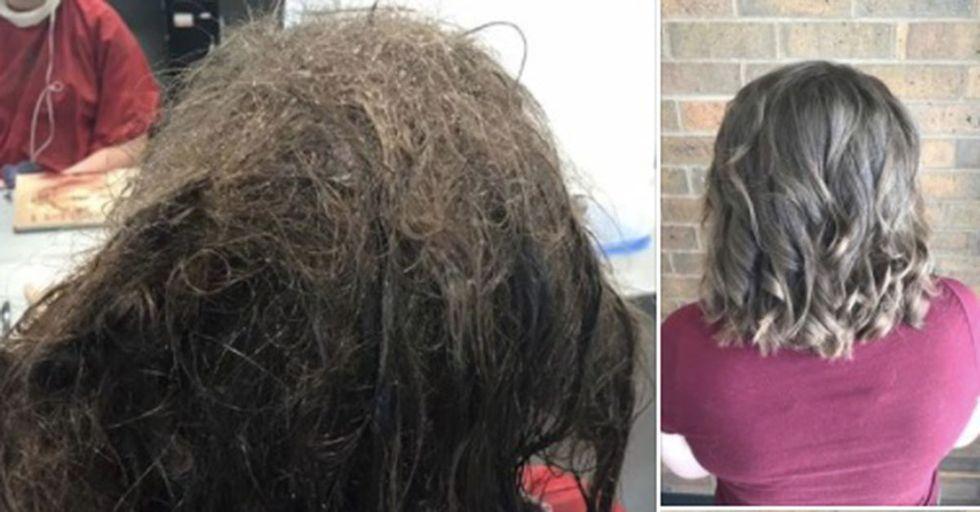 When This Hairdresser Met A Desperate And Depressed Client, She Worked Tirelessly To Help Her