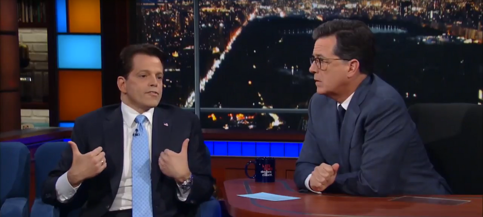 Watch The Mooch Get Grilled By Stephen Colbert